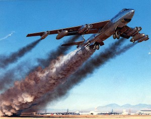 Boeing B-47B rocket-assisted take off