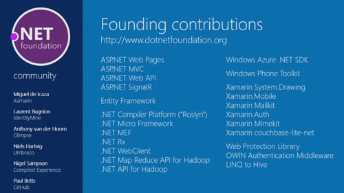 NET Foundation open source contributions