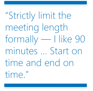 PQ - Managed - Limit the meeting time